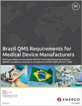Learn More about Brazil QMS Requirements for Medical Device Manufacturers