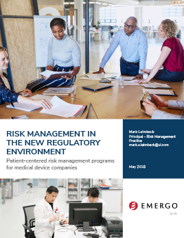 White paper: Medical Device Risk Management in the New Regulatory Environment