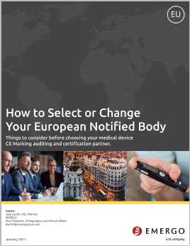 Download our free white paper on How to Select or Change a Notified Body in Europe