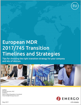 Download our white paper on the European MDR Transition Timelines and Strategies