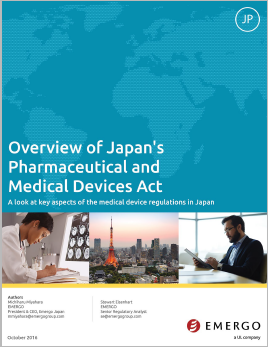 Japan's Pharmaceutical and Medical Devices Act (PMD Act)