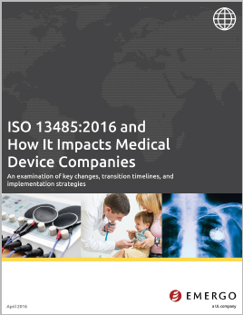 Download the white paper: How ISO 13485:2016 Impacts Medical Device Companies