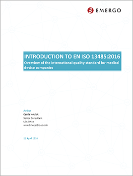 Download our Whitepaper - Introduction to ISO 13485:2016