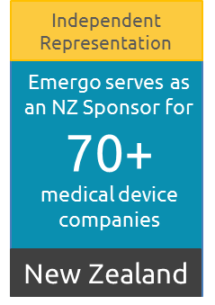 New Zealand Sponsor for over 70 medical device companies