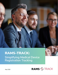 Simplify medical device registration tracking with RAMS-Track