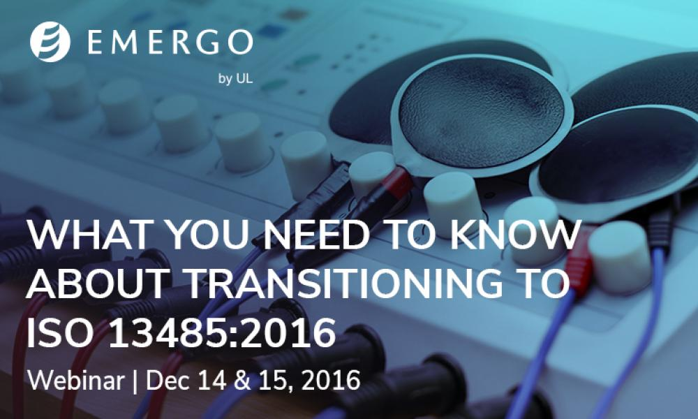 Register for our free webinar on Transitioning to ISO 13485:2016