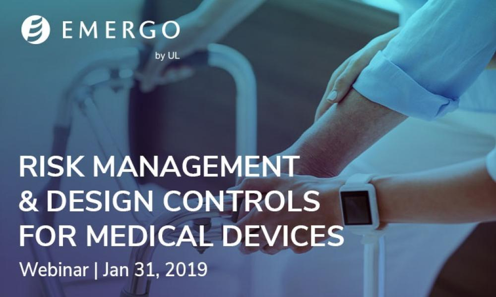 Emergo webinar - medical device design controls January 2019