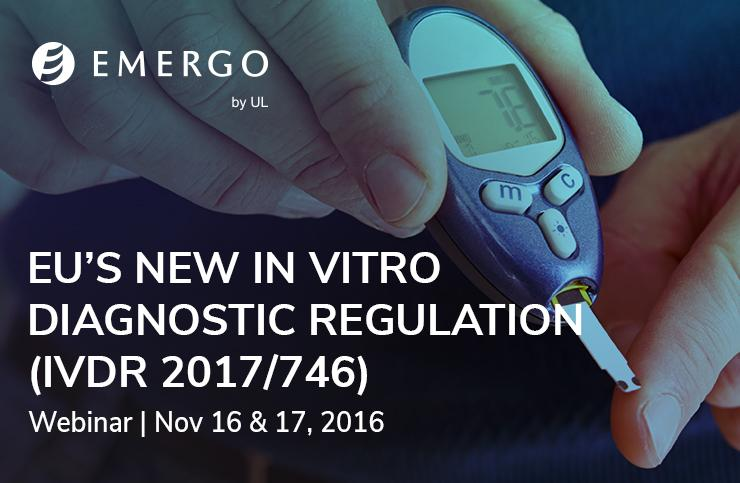 Watch our recent webinar on the European In Vitro Diagnostic Devices Regulation