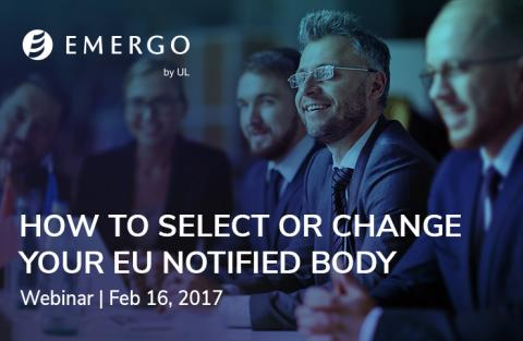 Register for our free webinar on choosing or changing your EU Notified Body