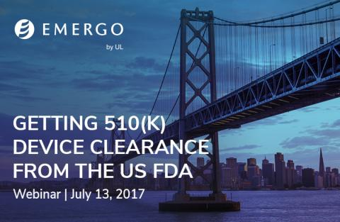 Register for our webinar: Getting 510(k) Clearance for Your Device from the US FDA