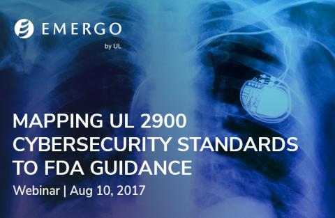 Register for our webinar: Mapping UL 2900 Cybersecurity Standards to FDA Guidance