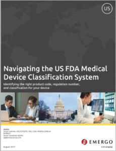Navigation the US FDA medical device classification system