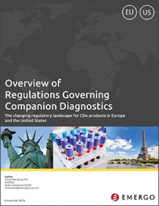 Download our white paper on Overview of Regulations Governing Companion Diagnostics in the US and EU