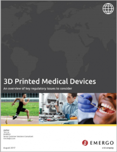 Medical device regulations for 3D printed devices