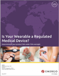 This white paper discusses FDA guidance regarding wearable wellness products vs. medical devices.