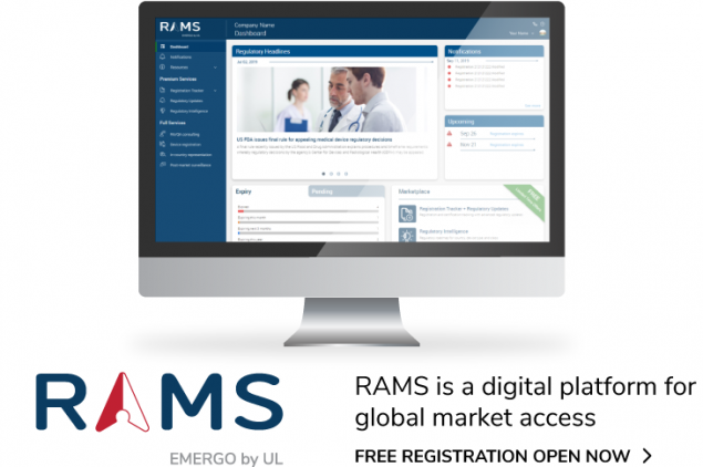 Register for a free RAMS account