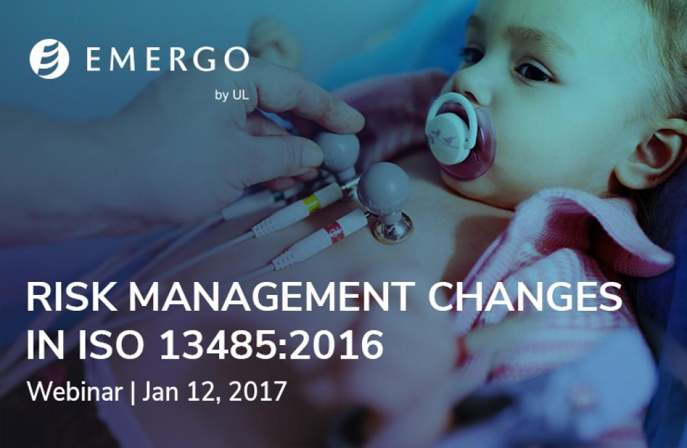 Register for our free webinar on Risk Management changes in ISO 13485:2016
