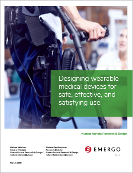 Applying human factors to wearable medical devices